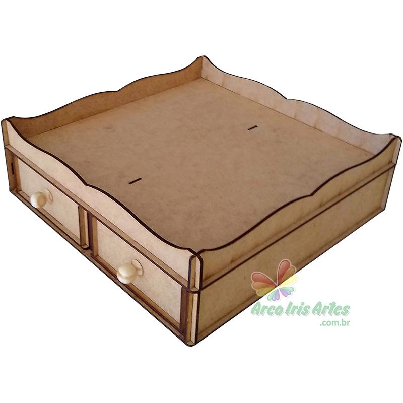 Porta cápsulas bandeja com 02 gavetas para 16 cápsulas Dolce Gusto ou 16 cx acrilico especiarias GIN