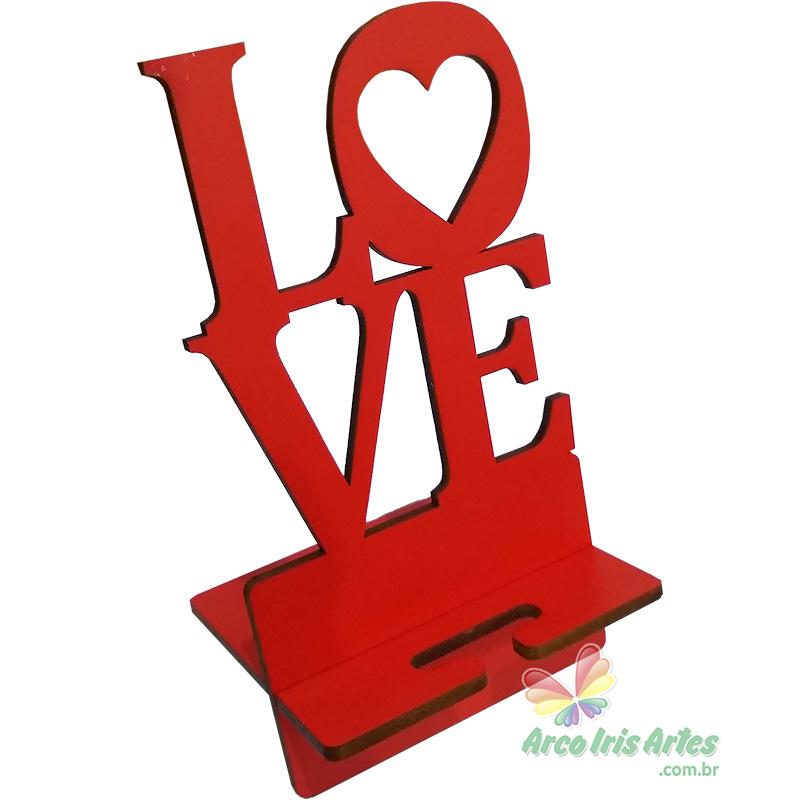 Porta Celular LOVE Adesivado