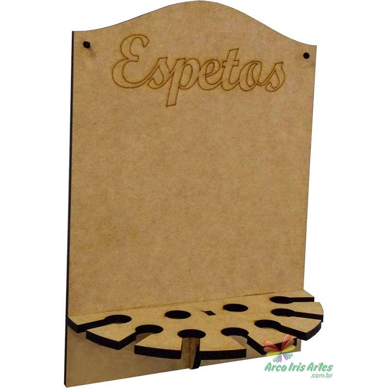 PORTA ESPETOS PAREDE 09 LUGARES 6MM