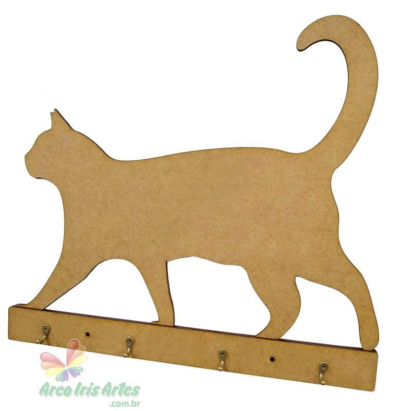 Porta Utensílios Gato sem pintura