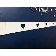 Faixa border de parede avulso Corações 80cm