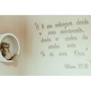 Frase Salmos 22 em MDF branco 2m