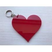 KIT 30 PEÇAS - Chaveiro Coração ACRÍLICO COLORIDO (R$ 1,70 cada)