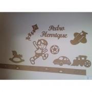 Kit Painel de Parede Brinquedos Personalizado MDF CRU