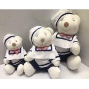 Trio de Pelúcias WU Marinheiro para Nichos Quarto do Bebê