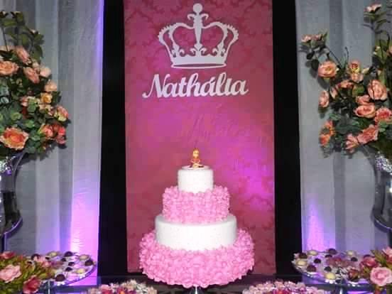 Decoração para Painel de Festa - Nome Personalizado 80cm + Coroa 60cm MDF CRU