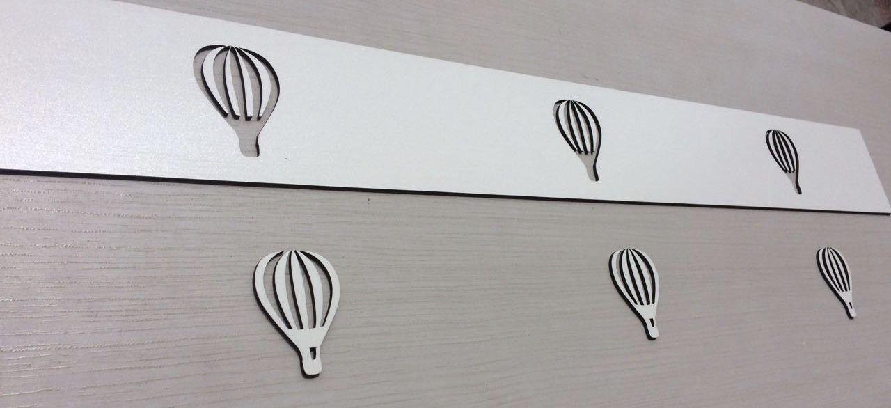Faixa border de parede avulso Balões 80cm