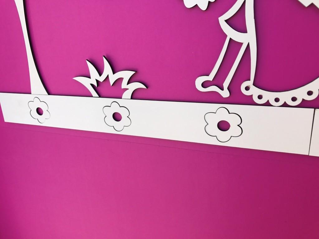 Faixa border de parede avulso Flores 2 - 80cm
