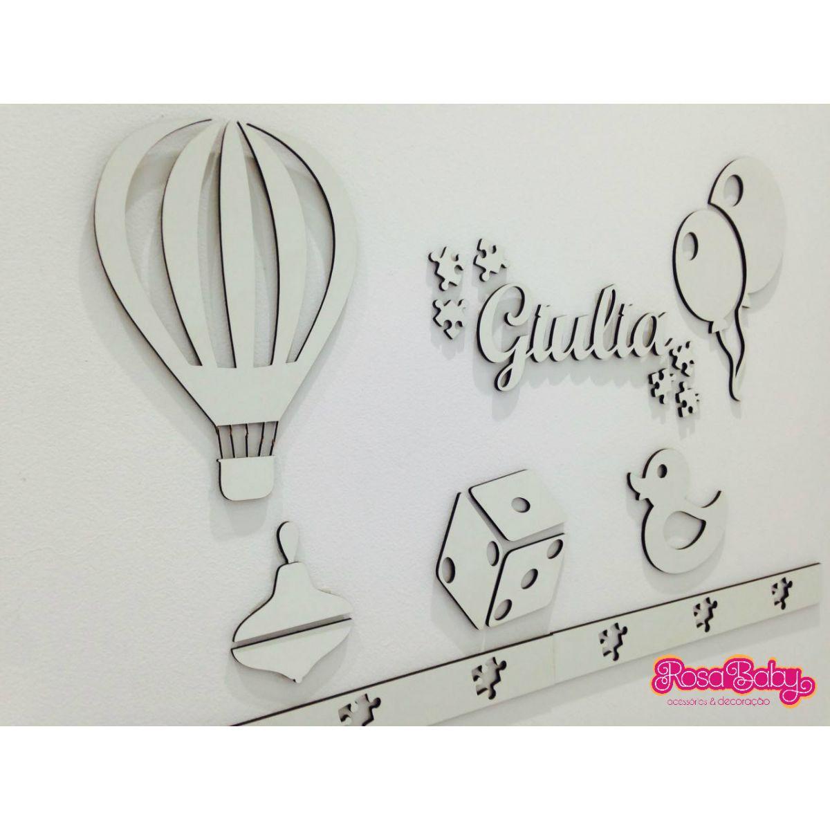 Kit Painel de Parede Brinquedos Baby MDF BRANCO