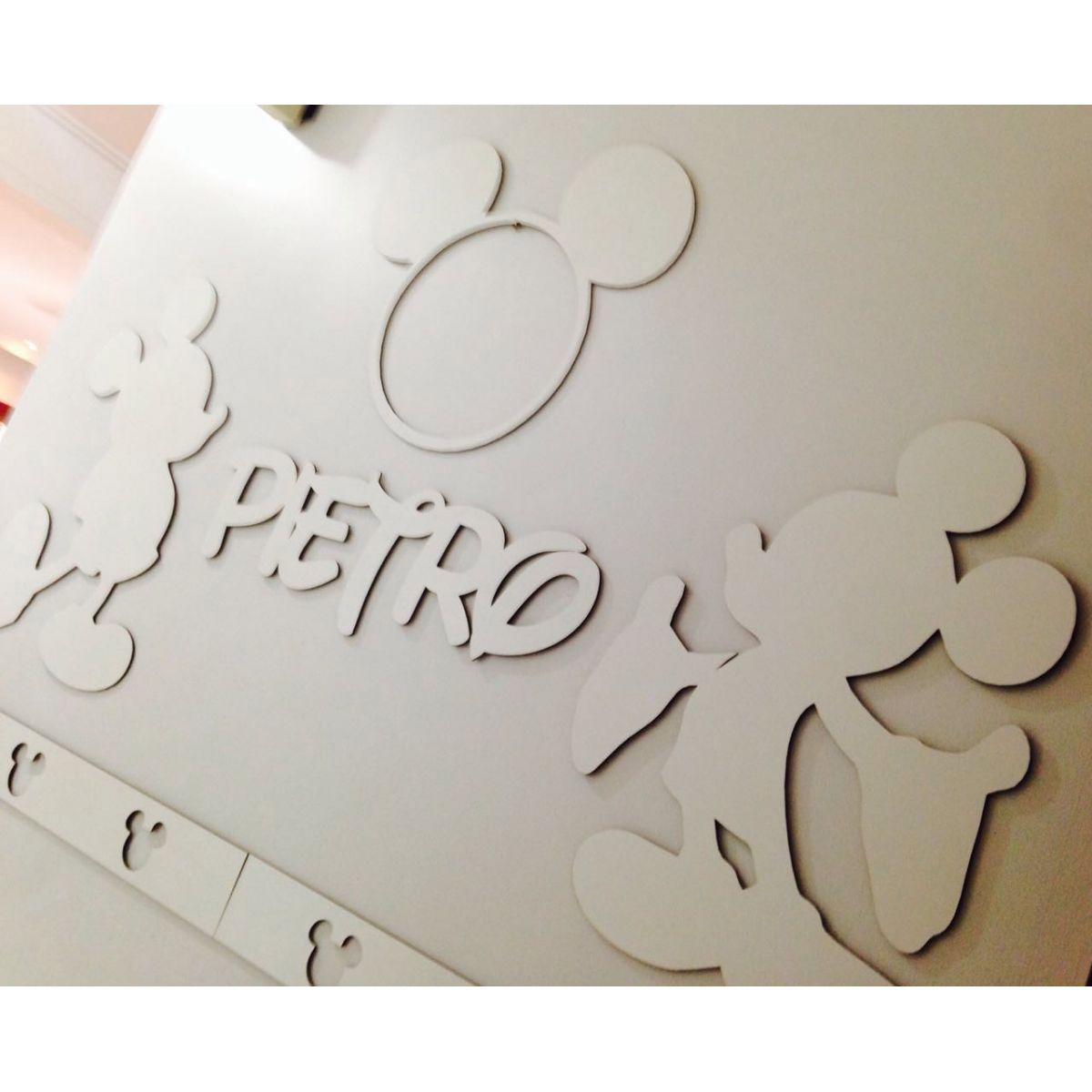 Kit Painel de Parede Mickey Personalizado MDF CRU