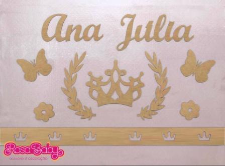 Kit Painel de Parede Princesa MDF CRU