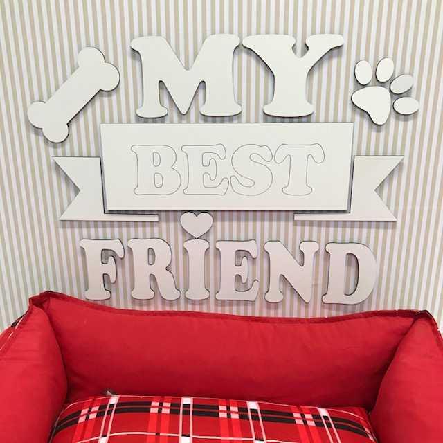 Painel Pet My Best Friend MDF