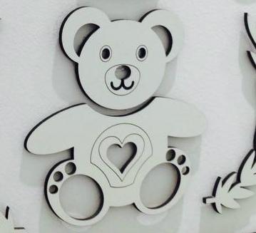 Urso  Coração 35cm