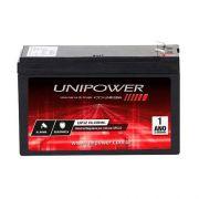 Bateria Selada UNIPOWER UP12 Alarme Cerca Elétrica Segurança CFTV 12V 4A