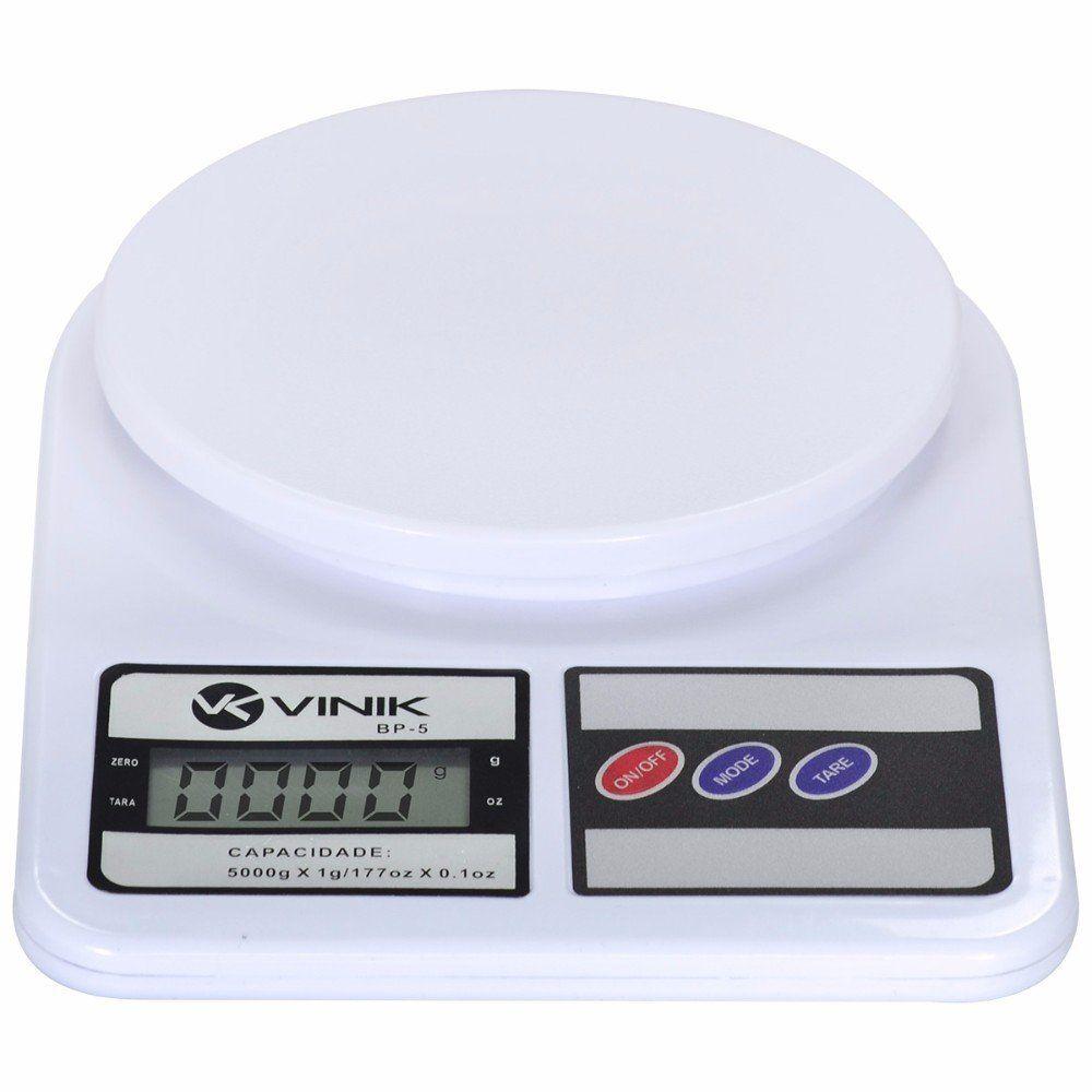 Balança de Cozinha de Alta Precisão pesa de 1gr à 5kg BP5 Vinik