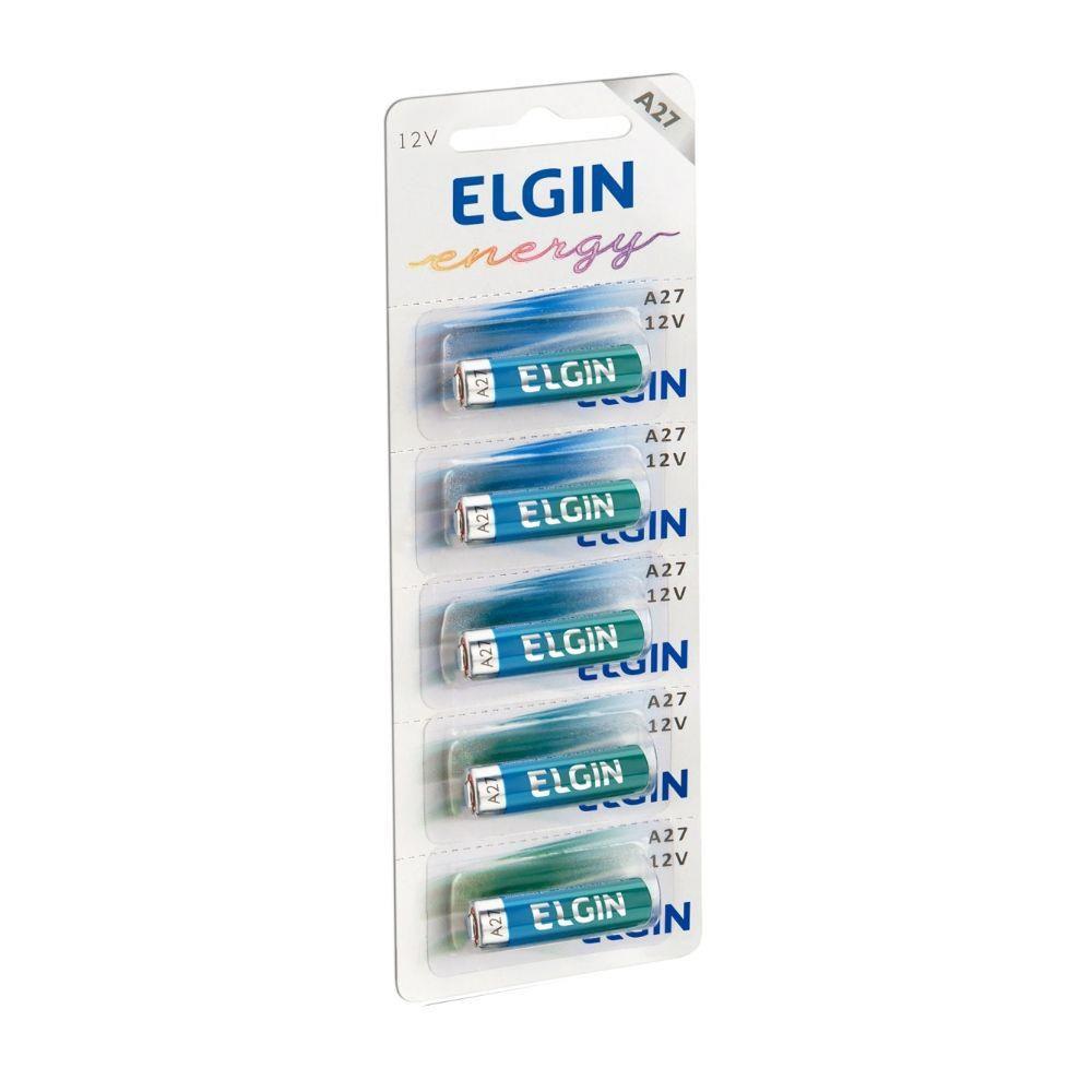 Bateria Alcalina A27 Cartela C/5 Elgin