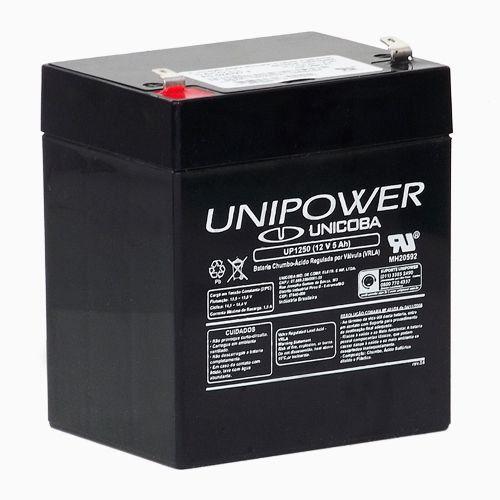 Bateria Selada 12V Nobreak Alarme 5Ah UNIPOWER UP1250