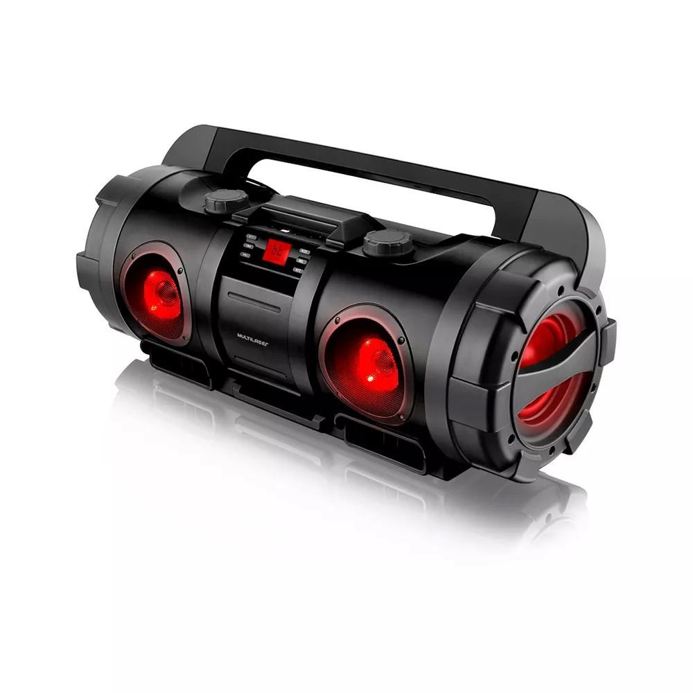Caixa de Som Boombox Bazooka Bluetooth Multilaser SP218