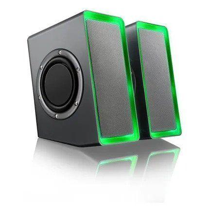 Caixa de Som Gamer Led Light USB SP201 Multilaser