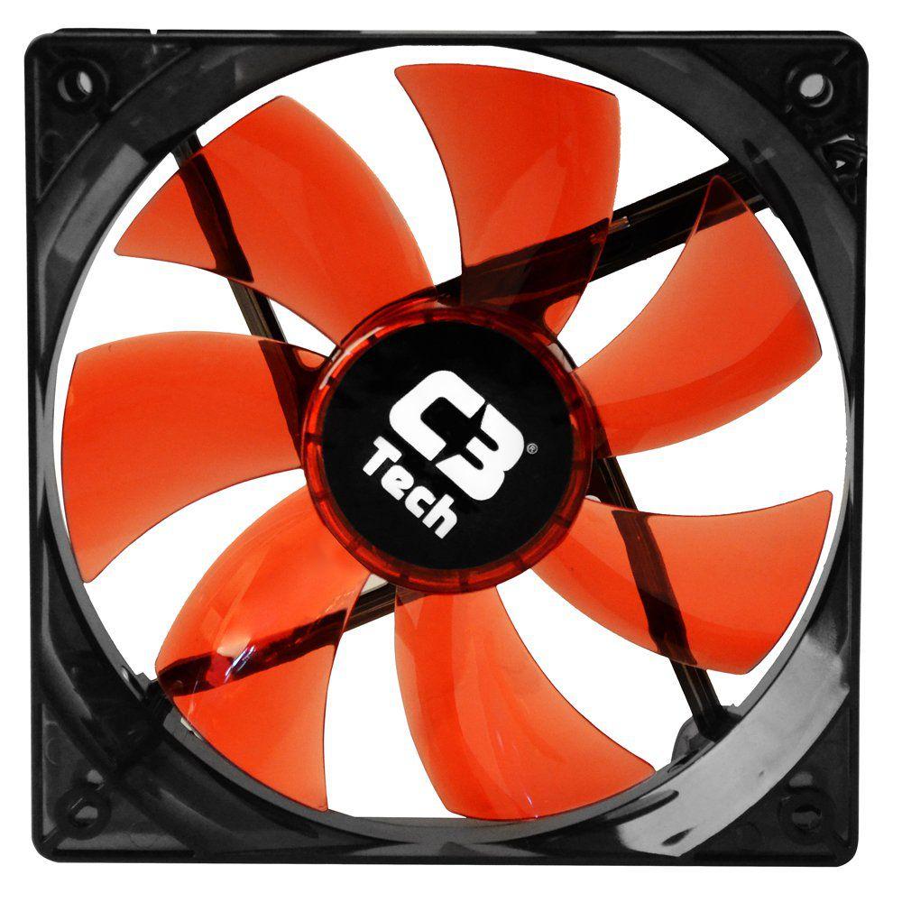 Cooler Fan 12 X 12 X 2,5 CM Storm F7-L100RD Led C3TECH