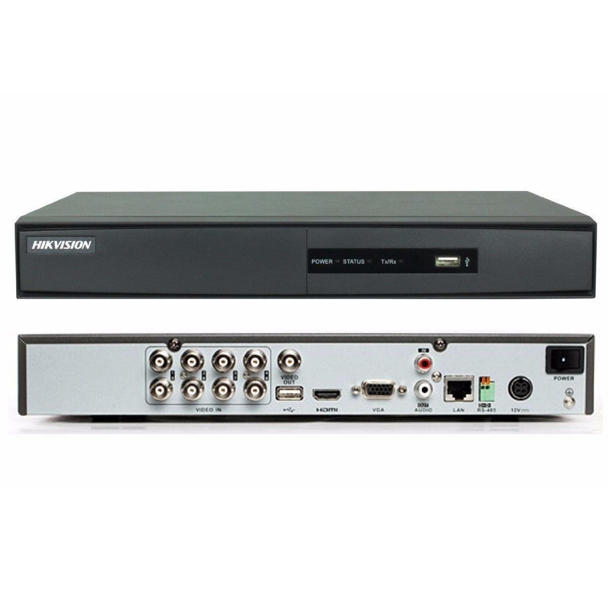 DVR 8 Canais Digital Turbo HD DS-7208HGHI-F1/N 15FPS Hikvision