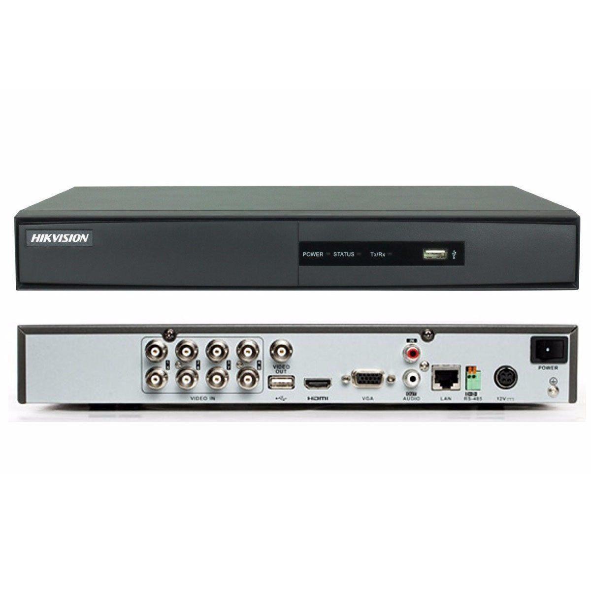 DVR 8 Canais Digital Turbo HD DS-7208HGHI-F1/N Hikvision