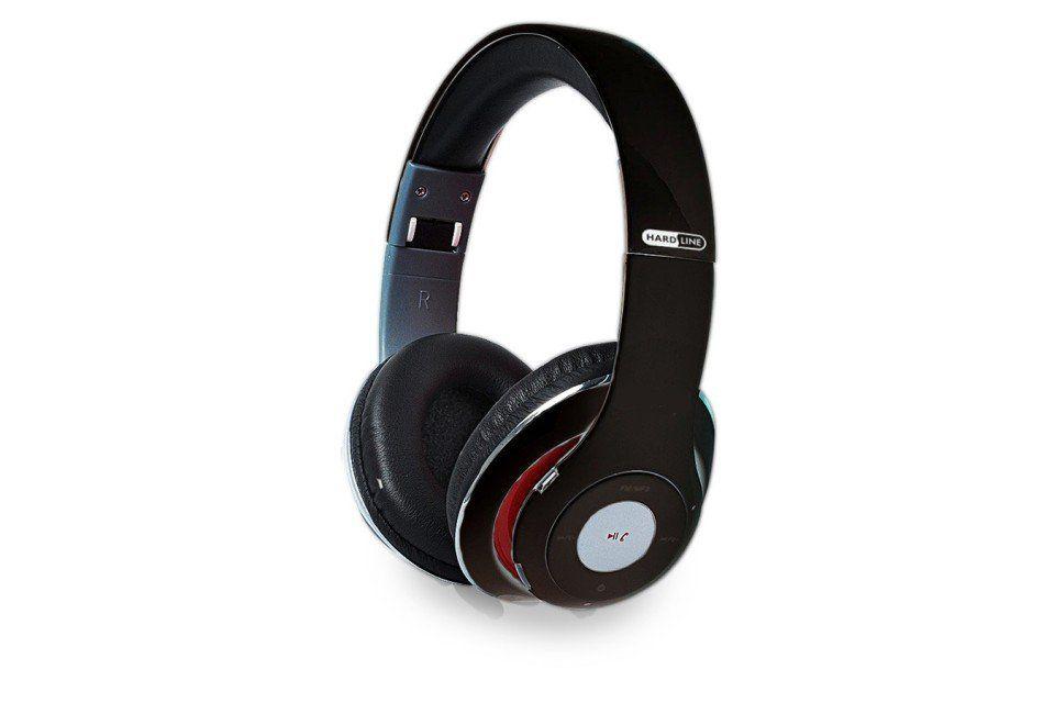 Fone de Ouvido Bluetooth Entrada SD, Rádio FM Preto Hardline TM-010