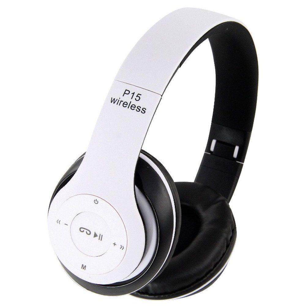Fone de Ouvido Bluetooth C/Rádio FM FO-BT-P15 Branco Hardline
