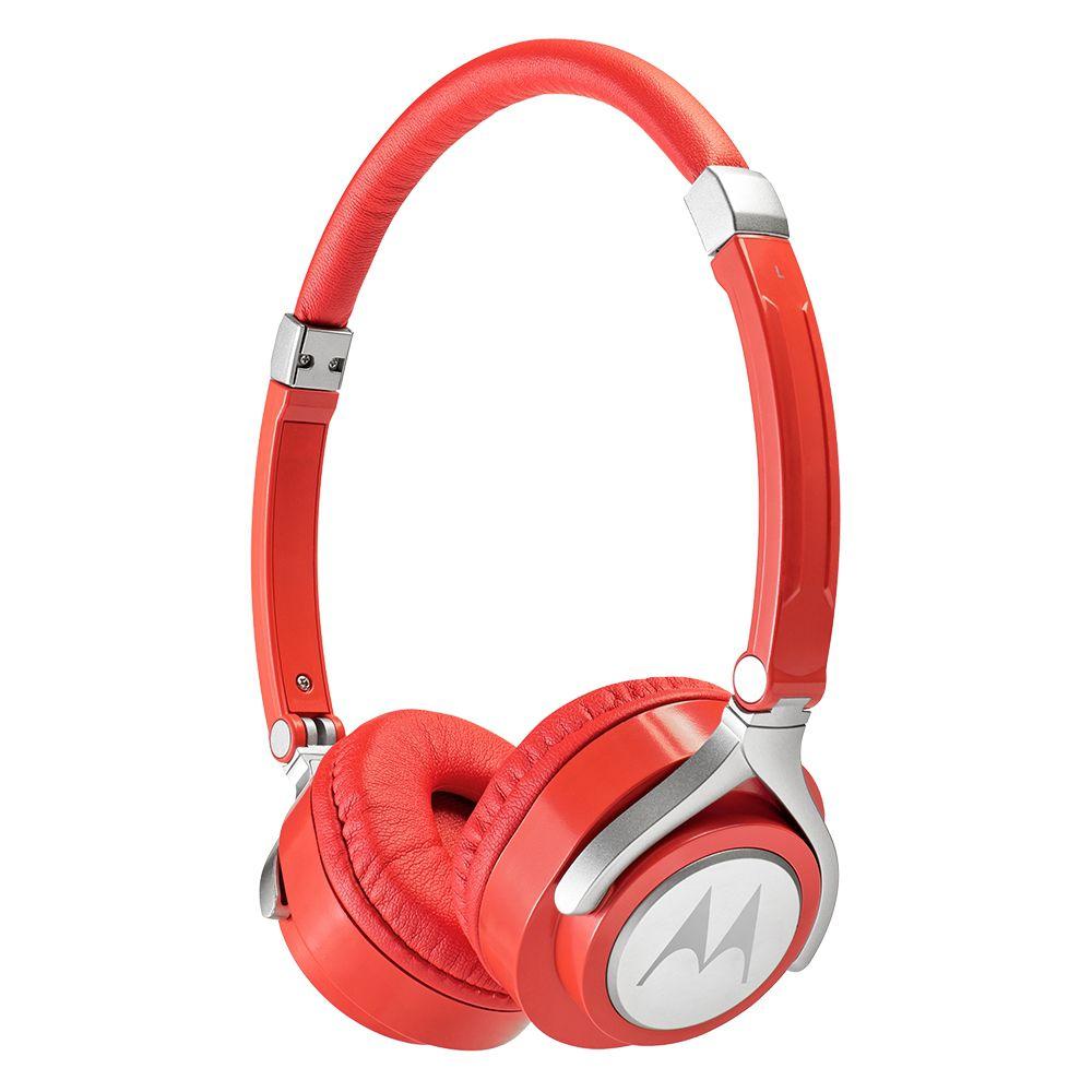 Fone de Ouvido ORIGINAL Motorola PULSE 2 com Microfone Vermelho