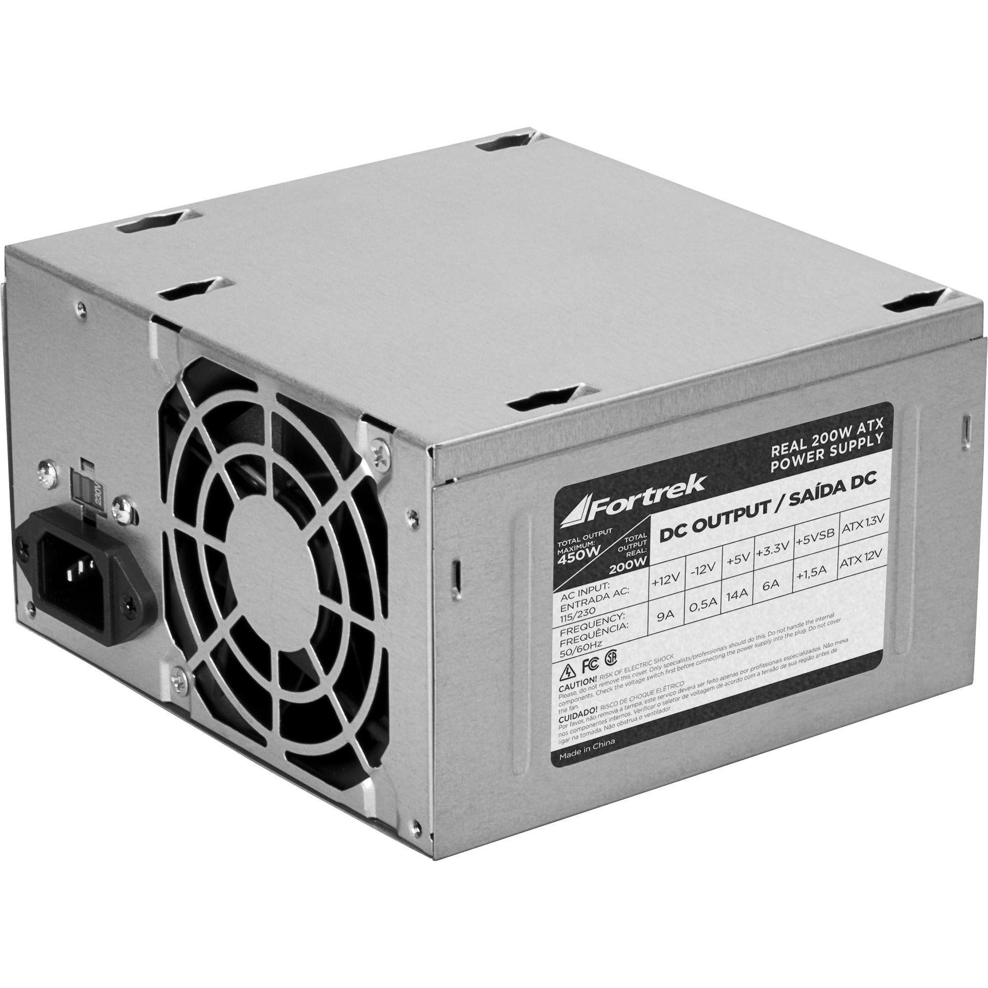 Fonte ATX 450W (200W Real) nova com garantia 20+4p Fortrek