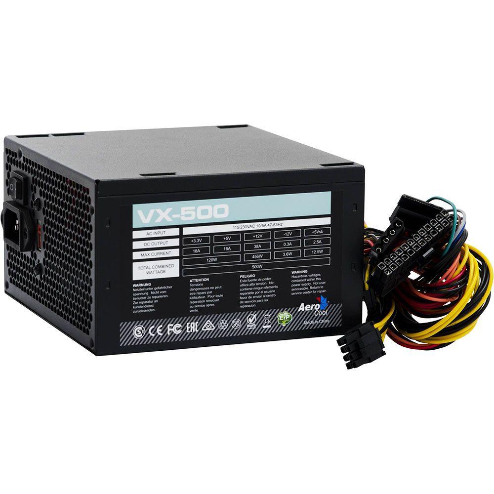 Fonte ATX 500W Real VX-500 EN53176 AEROCOOL