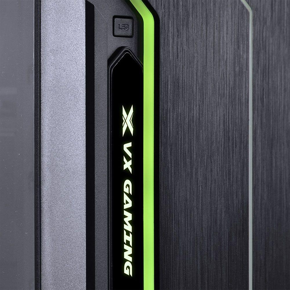 Gabinete Midtower VX Gaming Tron Led 7 Cores 09GATR-7 VINIK