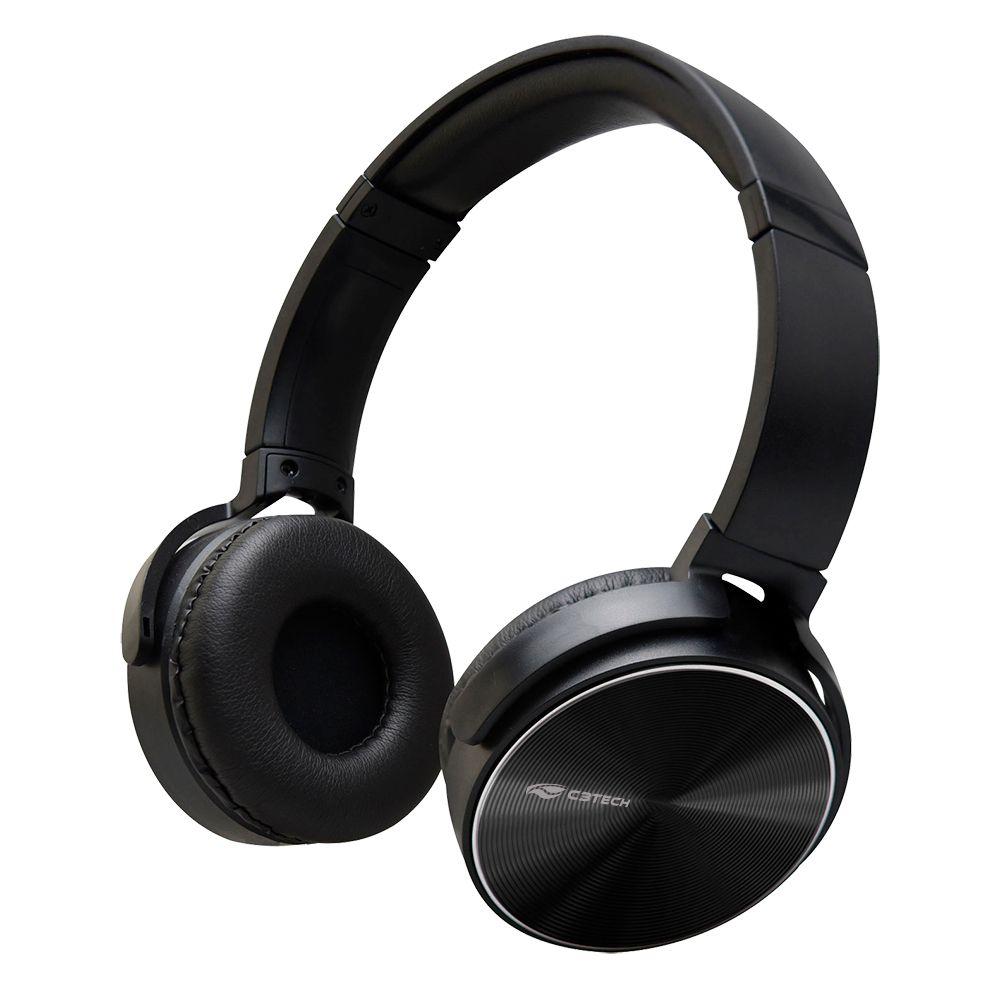 Headphone C/ Microfone Dobrável Preto PH-110BK