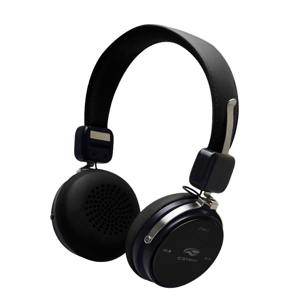Headphone sem Fio Bluetooth 4.2 C3TECH PH-B600BK Preto Bateria Longa Duração