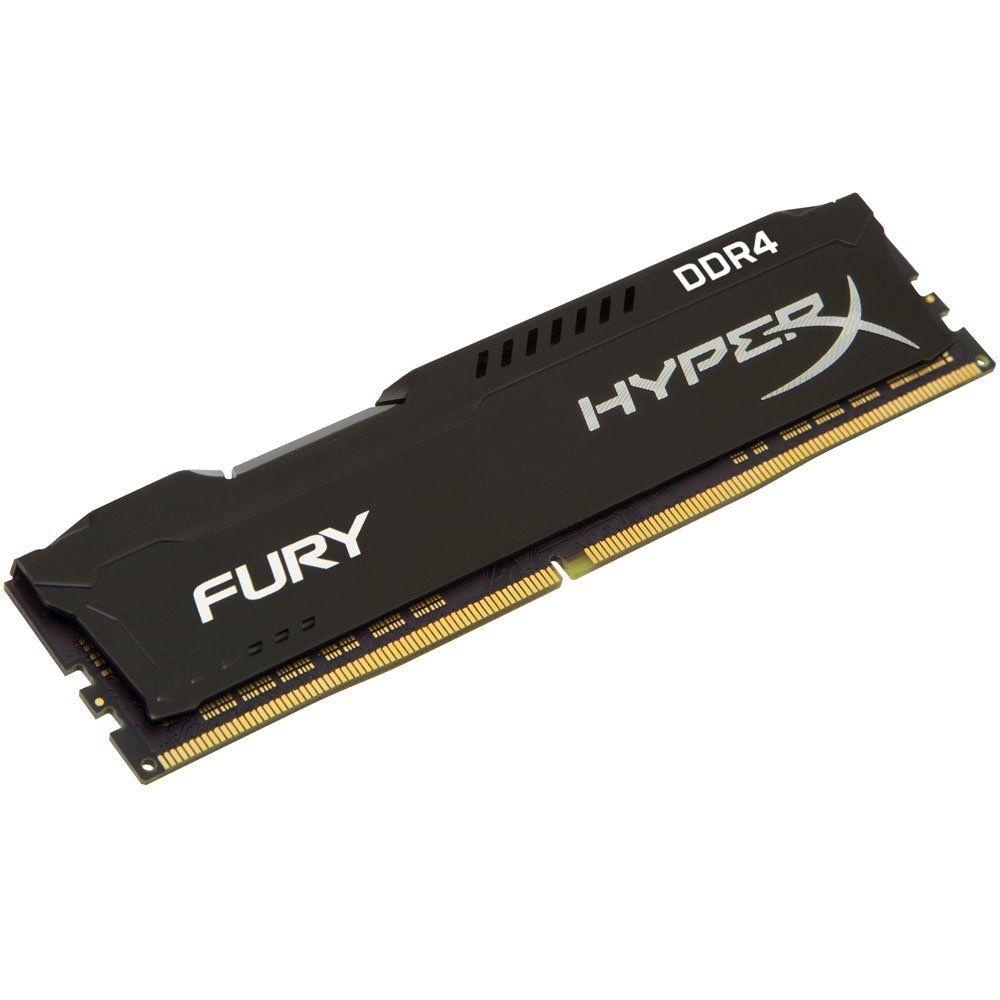 Memoria 8GB Kingston Hyperx Fury DDR4 2400Mhz Dimm HX424C15FB2/8