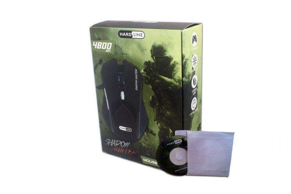 Mouse Gamer 6D 4800dpi Shadow Hunter Cabo Nylon Hardline