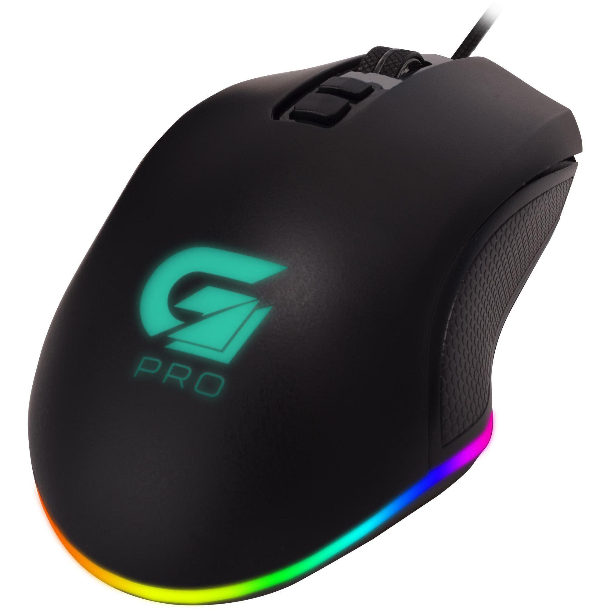 Mouse Gamer Pro M3 RGB 4800DPI Preto FORTREK