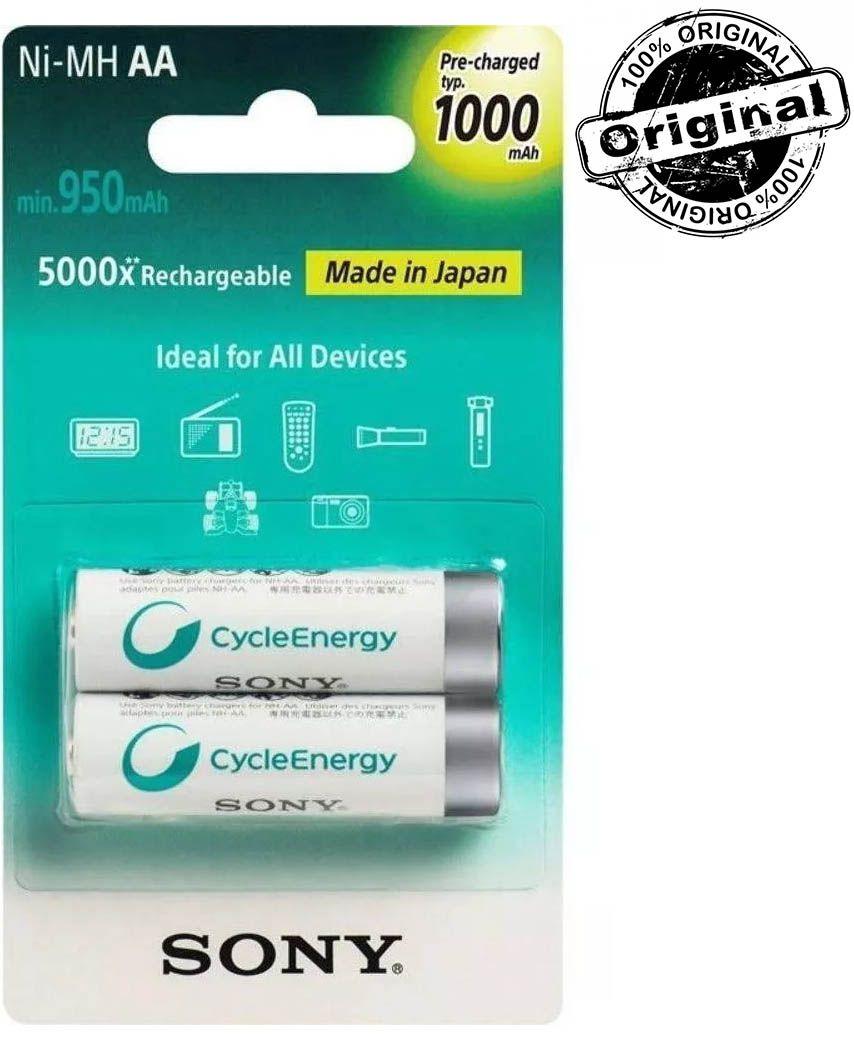 Pilha Recarregável AA 1000mha Cycle Energy Sony