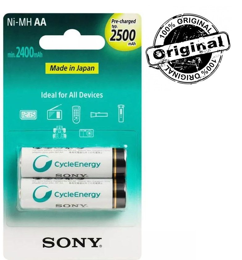 Pilha Recarregável Sony AA 2500mah Lacrada