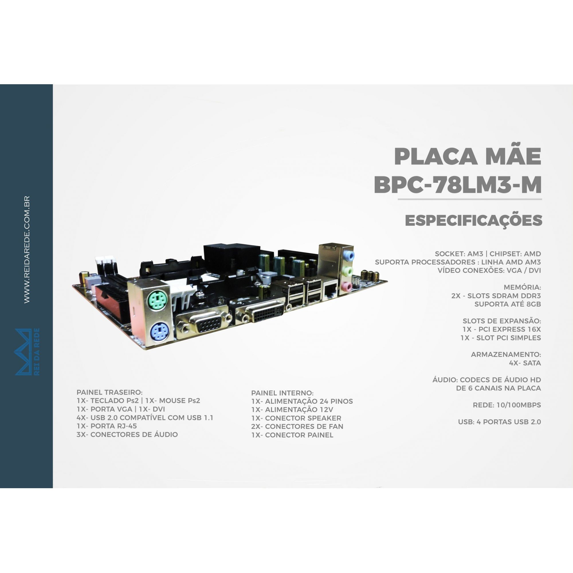 Placa Mãe AM3 BPC-78LM3-M BPC OEM