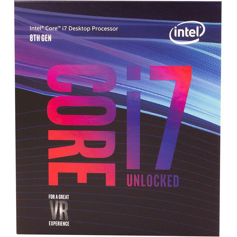 Processador Intel Core I7-8700K LGA 1151 3.7GHZ 12MB Cache BX80684I78700K