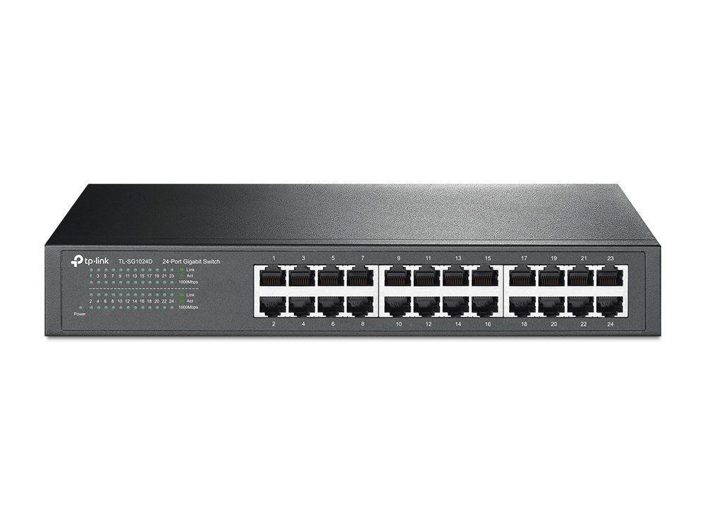 Switch Gigabit 24 portas Jetstream TL-SG1024D Tp-link
