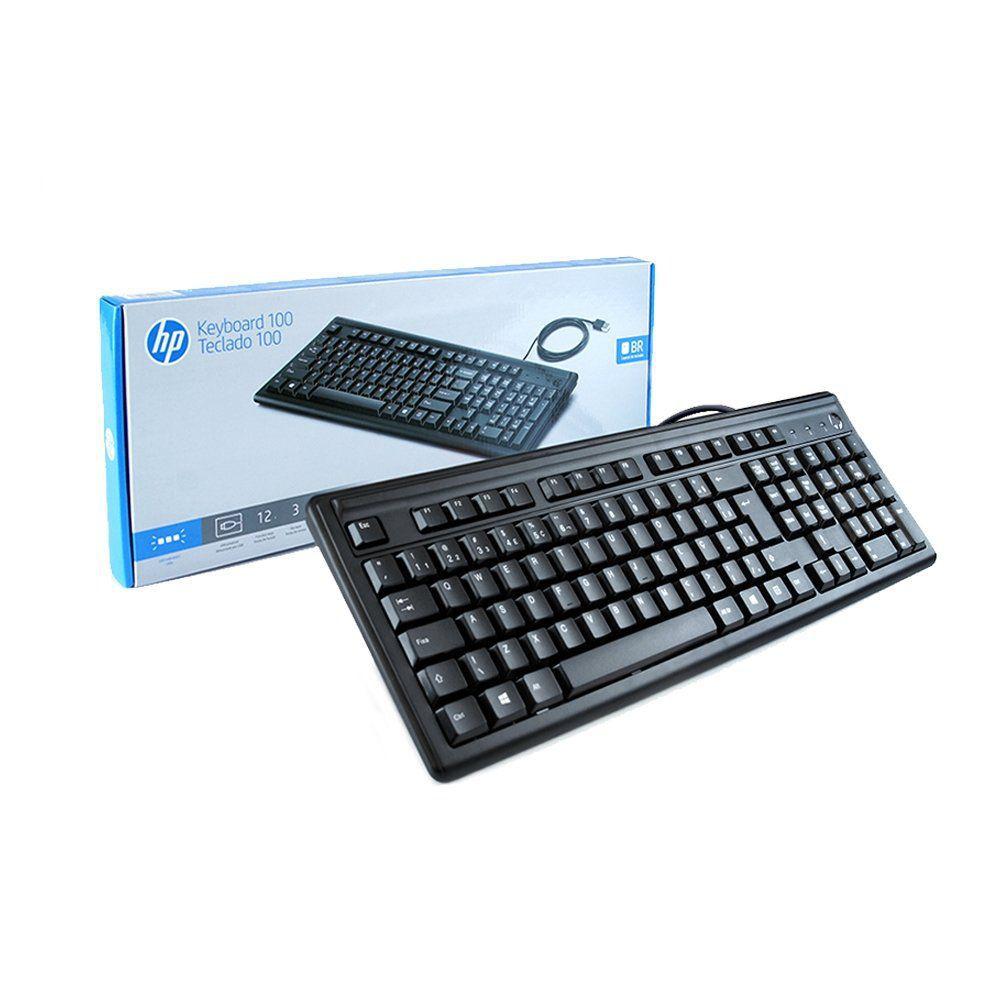 Teclado USB HP 100 Preto ABNT2