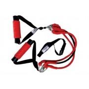 Extensor 3 elasticos 2 manoplas suporte porta fg fitness