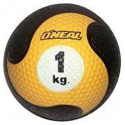 Medicine ball 1kg borracha amarela unisex yoga pilates oneal