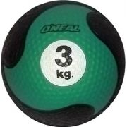 Medicine ball 3kg borracha verde unisex yoga pilates oneal