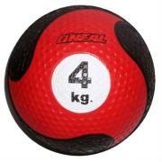 Medicine ball 4kg borracha vermelha unisex yoga oneal
