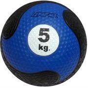 Medicine ball 5kg borracha azul unisex yoga pilates oneal