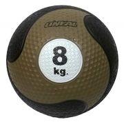 Medicine ball 8kg borracha marrom unisex yoga pilates oneal