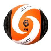 Medicine ball alça 6kg borracha laranja unisex yoga oneal